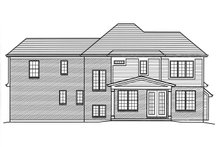 Home Plan - Traditional Exterior - Rear Elevation Plan #46-875