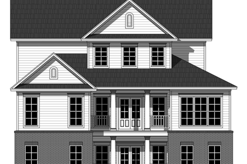 Farmhouse Exterior - Rear Elevation Plan #21-331 - Houseplans.com