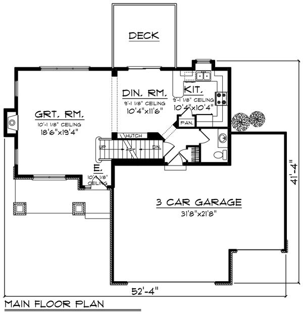 Floor Plan - Main Floor Plan Plan #70-1236
