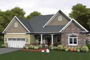 Ranch Style House Plan - 3 Beds 2 Baths 1824 Sq/Ft Plan #1010-103 Exterior - Front Elevation