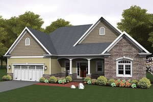 Dream House Plan - Ranch Exterior - Front Elevation Plan #1010-103