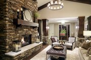 Craftsman Style House Plan - 4 Beds 3.5 Baths 4129 Sq/Ft Plan #928-260 Interior - Family Room