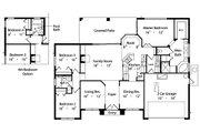 Mediterranean Style House Plan - 3 Beds 2 Baths 1783 Sq/Ft Plan #417-144 Floor Plan - Main Floor Plan