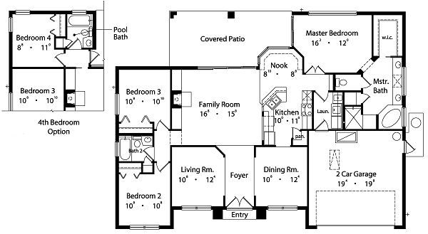 Mediterranean Floor Plan - Main Floor Plan Plan #417-144