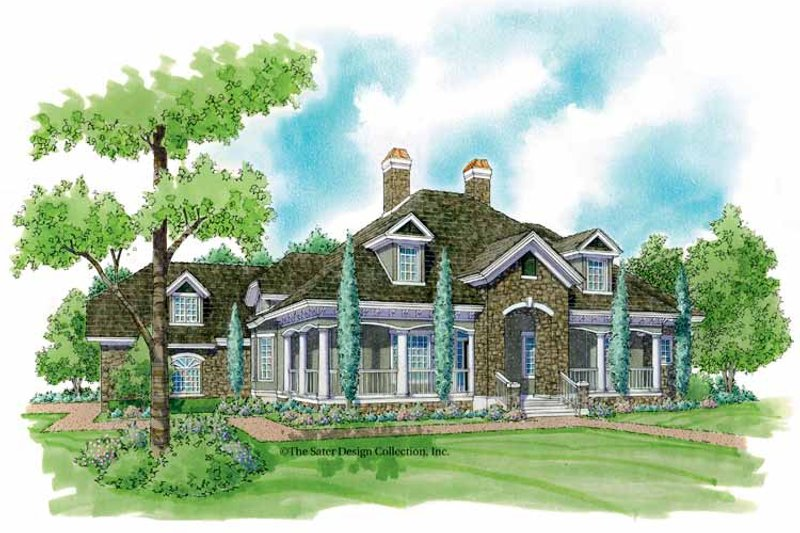 Country Exterior - Front Elevation Plan #930-240