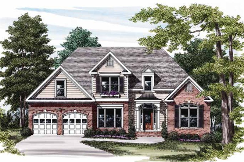 Traditional Exterior - Front Elevation Plan #927-572 - Houseplans.com