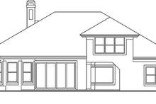 Dream House Plan - Mediterranean Exterior - Rear Elevation Plan #417-778