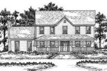 Dream House Plan - Country Exterior - Front Elevation Plan #36-410