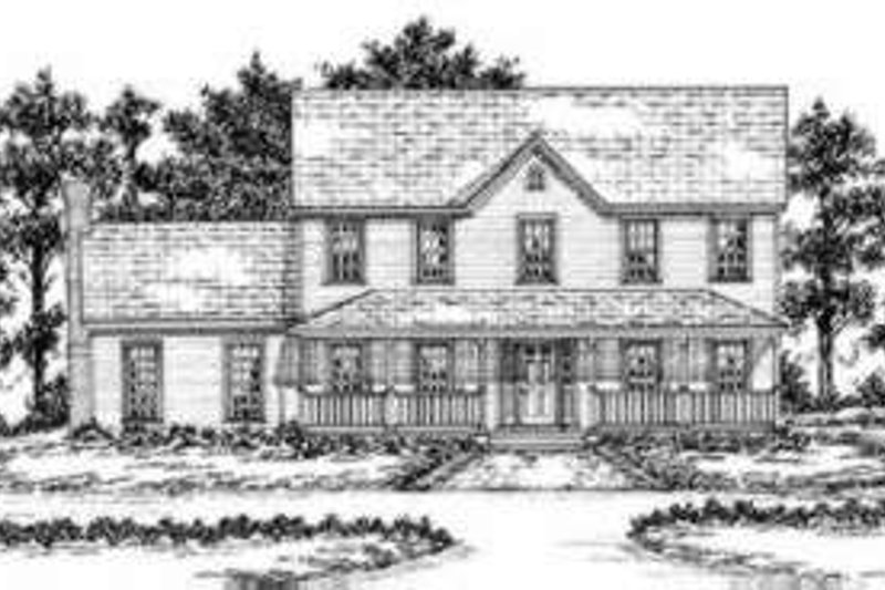 Country Style House Plan - 4 Beds 3.5 Baths 2948 Sq/Ft Plan #36-410 Exterior - Front Elevation
