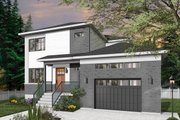 Contemporary Style House Plan - 4 Beds 2.5 Baths 2105 Sq/Ft Plan #23-2706 Exterior - Front Elevation