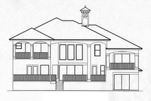 Mediterranean Exterior - Rear Elevation Plan #1017-25