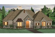 Country Exterior - Front Elevation Plan #937-39