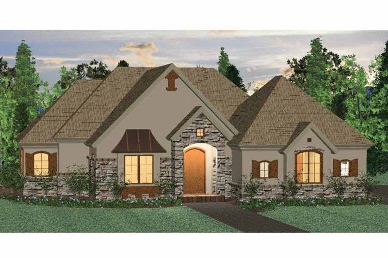 Architectural House Design - Country Exterior - Front Elevation Plan #937-39