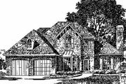 European Style House Plan - 4 Beds 3.5 Baths 2314 Sq/Ft Plan #310-161 Exterior - Front Elevation