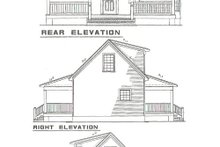 House Plan Design - Cottage Exterior - Rear Elevation Plan #17-2139