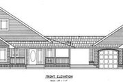 Traditional Style House Plan - 3 Beds 2 Baths 2499 Sq/Ft Plan #60-290 Exterior - Other Elevation