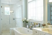 European Style House Plan - 4 Beds 3.5 Baths 5977 Sq/Ft Plan #928-8 Interior - Master Bathroom