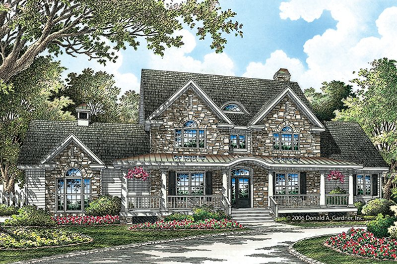Country Exterior - Front Elevation Plan #929-853 - Houseplans.com