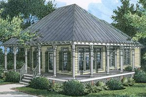 Dream House Plan - Country Exterior - Front Elevation Plan #45-533
