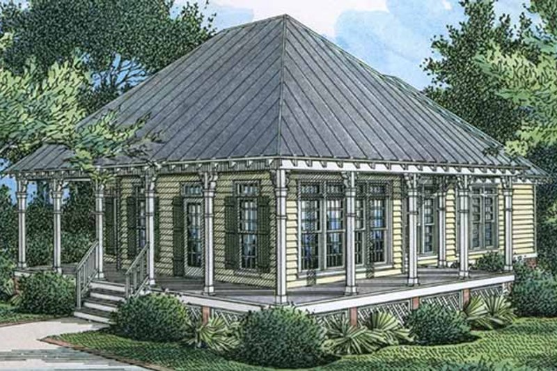 Country Exterior - Front Elevation Plan #45-533