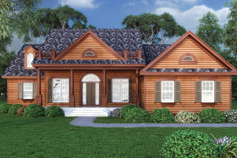 Craftsman Exterior - Front Elevation Plan #417-797 - Houseplans.com