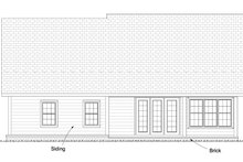 Dream House Plan - Traditional Exterior - Rear Elevation Plan #513-2081