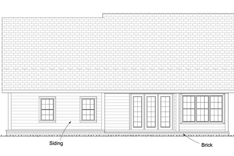 Traditional Exterior - Rear Elevation Plan #513-2081 - Houseplans.com