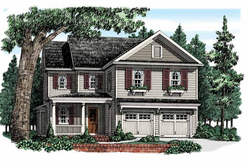 Country Exterior - Front Elevation Plan #927-948