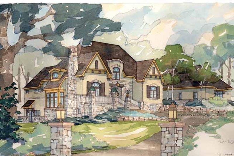 House Plan Design - European Exterior - Front Elevation Plan #928-29