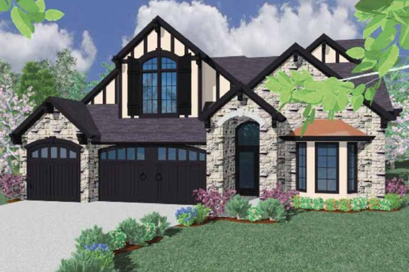 Traditional Exterior - Front Elevation Plan #509-377 - Houseplans.com