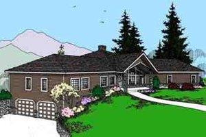 Modern Exterior - Front Elevation Plan #60-621