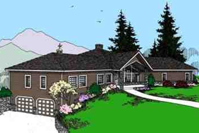 Modern Exterior - Front Elevation Plan #60-621 - Houseplans.com