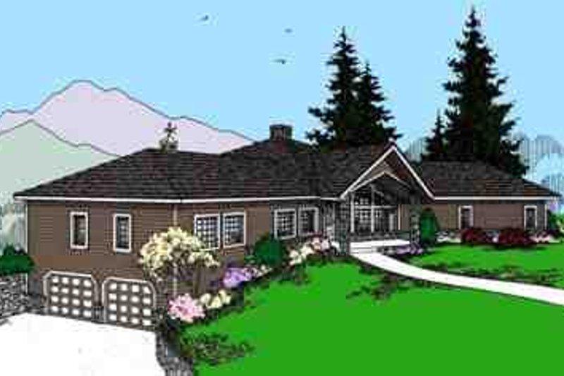 Dream House Plan - Modern Exterior - Front Elevation Plan #60-621