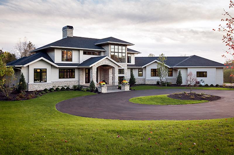 Contemporary Exterior - Front Elevation Plan #928-287 - Houseplans.com