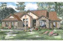 Home Plan - Adobe / Southwestern Exterior - Front Elevation Plan #17-2918