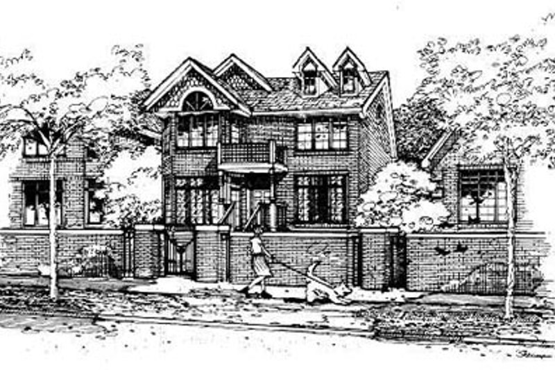 Traditional Style House Plan - 3 Beds 3 Baths 2174 Sq/Ft Plan #50-226 Exterior - Front Elevation