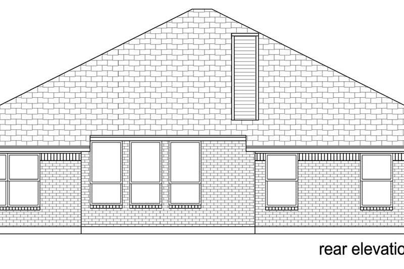 Traditional Exterior - Rear Elevation Plan #84-585 - Houseplans.com