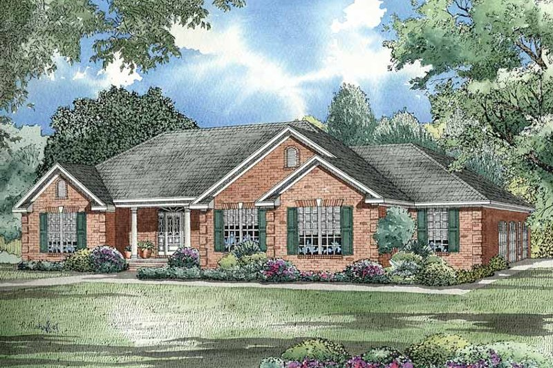 Dream House Plan - Ranch Exterior - Front Elevation Plan #17-2781