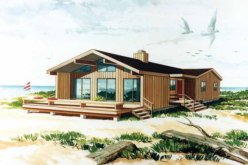 Dream House Plan - Contemporary Exterior - Front Elevation Plan #456-76