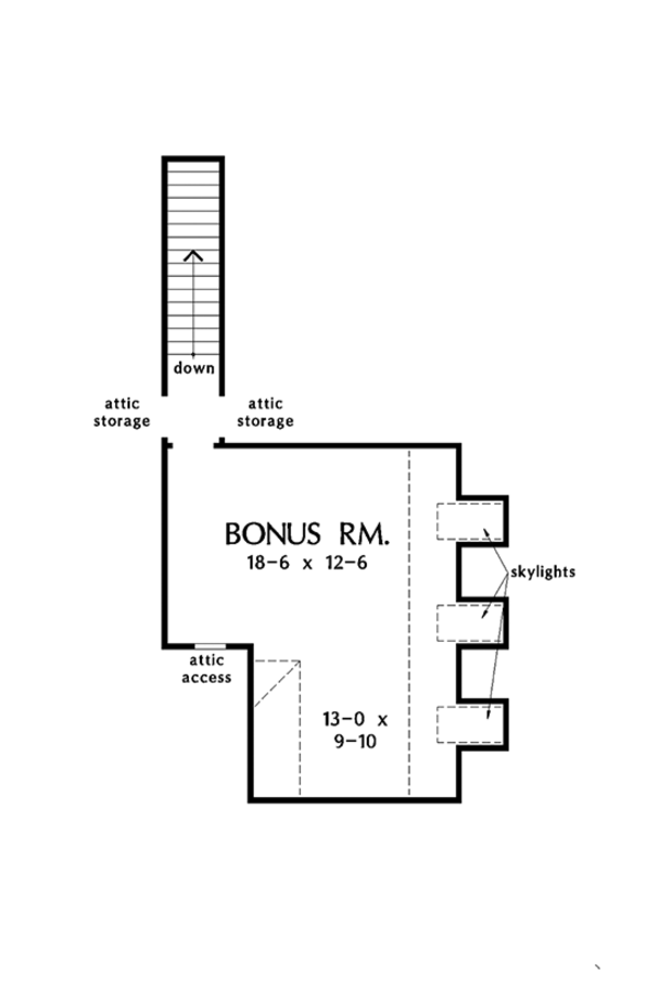 European Floor Plan - Other Floor Plan #929-1010