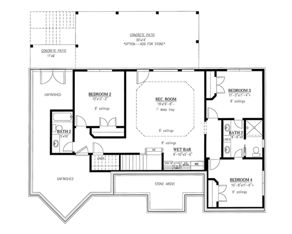 Craftsman Style House Plan - 4 Beds 3.5 Baths 3041 Sq/Ft Plan #437 ...