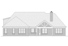 European Exterior - Rear Elevation Plan #932-5