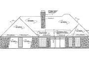 European Style House Plan - 4 Beds 3.5 Baths 2578 Sq/Ft Plan #310-729 Exterior - Rear Elevation