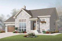Dream House Plan - Modern Exterior - Front Elevation Plan #23-2383