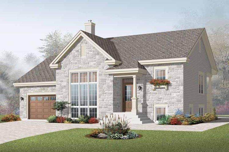 Architectural House Design - Modern Exterior - Front Elevation Plan #23-2383