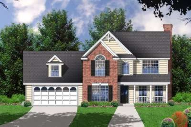 Traditional Exterior - Front Elevation Plan #40-172