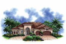 Mediterranean Exterior - Front Elevation Plan #1017-139