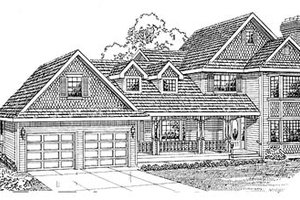 Traditional Exterior - Front Elevation Plan #47-270