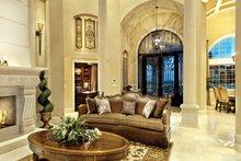 Architectural House Design - Mediterranean Interior - Family Room Plan #930-442