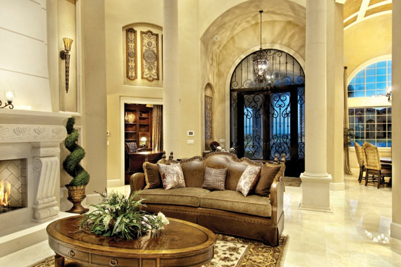 Mediterranean Interior - Family Room Plan #930-442 - Houseplans.com